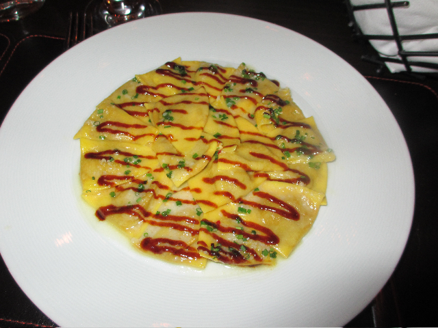 Duck & Foie Gras Ravioli at Scarpetta