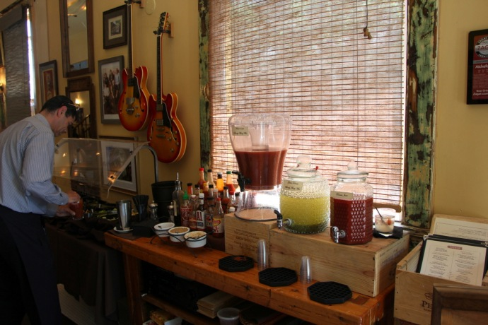 Atchafalaya Bloody Mary bar