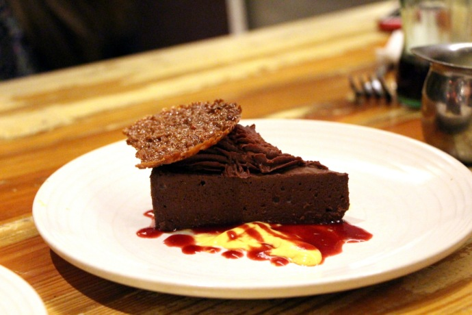 Peche Chocolate Cake