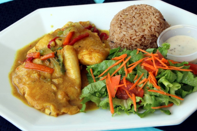 Flamingo's Curried Grouper