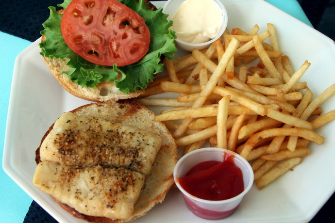Flamingo's Grouper Burger