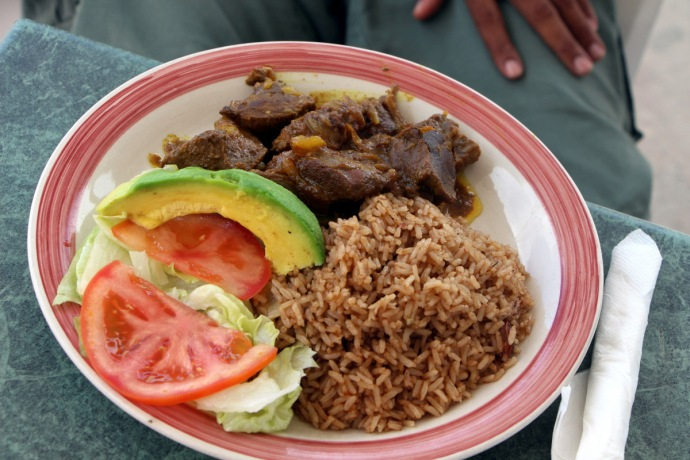 Three Queens Curried Goat
