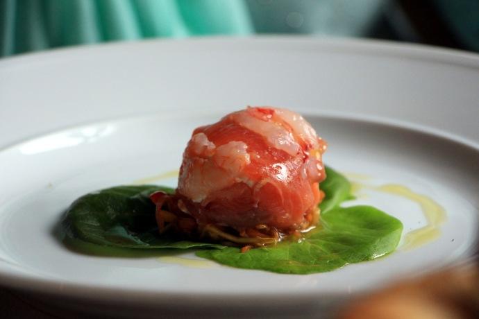 Trattoria La Coccinella Salmon, Shrimp ball