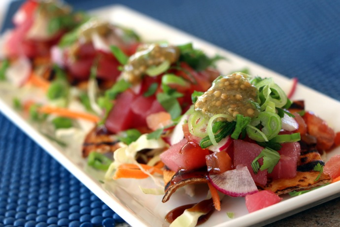 Seaside - tuna sashimi