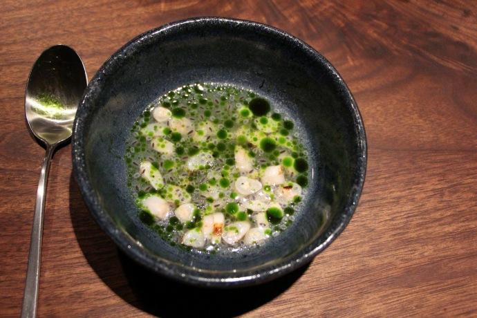 Momofuku Ko Razor clams
