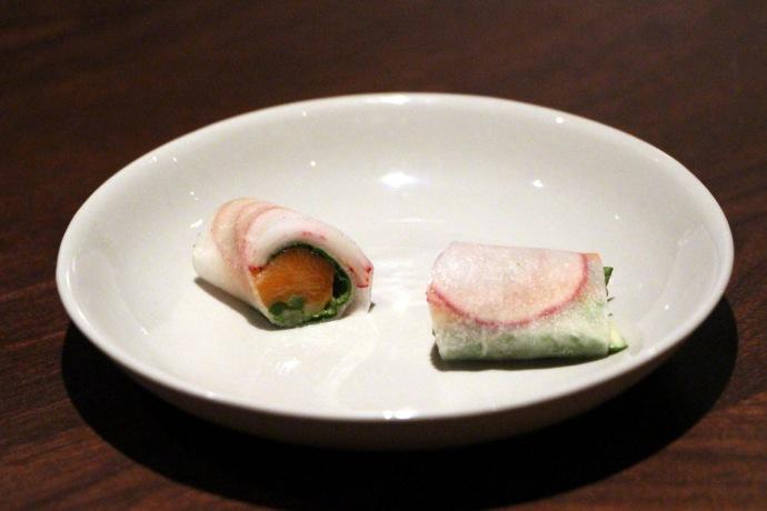 Momofuku Ko veg roll
