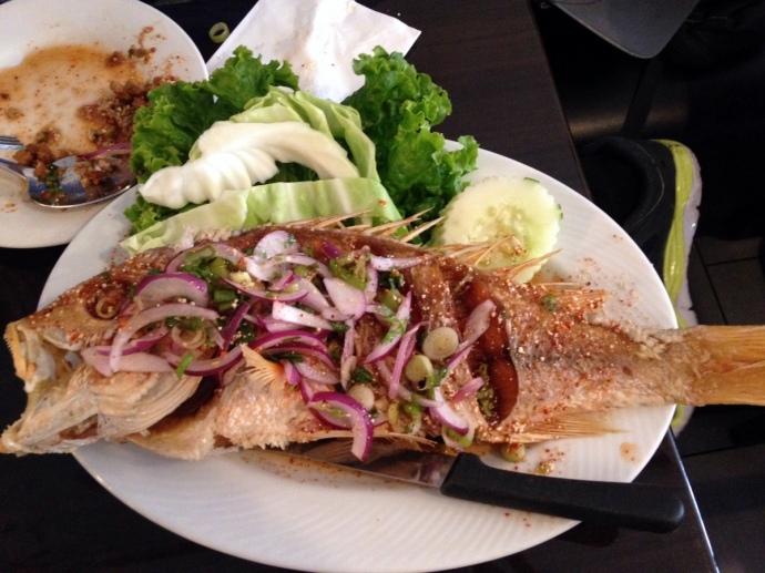 Larb Ubol Whole Fish