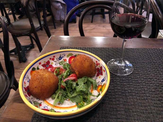 Arancini at Piccola Cucina Osteria Siciliana