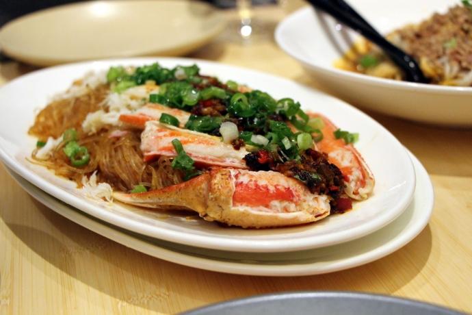 Pinch Chinese Crab in Chinese Restaurant