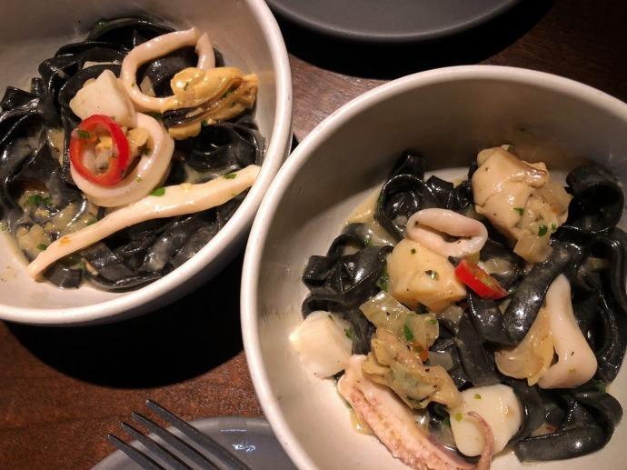 Simon & The Whale - Squid ink Tagliatelle